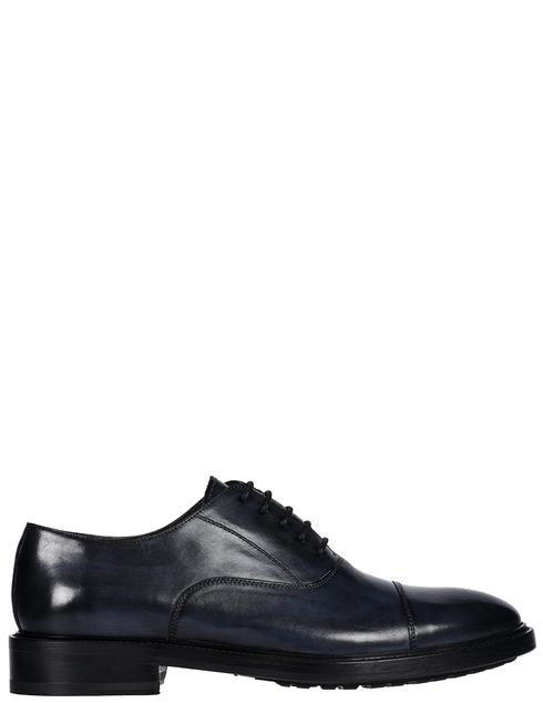 мужские синие кожаные Туфли Brecos 9127 - фото-5