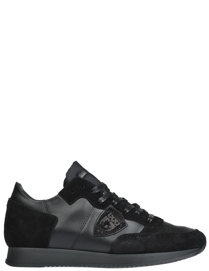 Кожаные чёрные кроссовки PHILIPPE MODEL (ITALY)