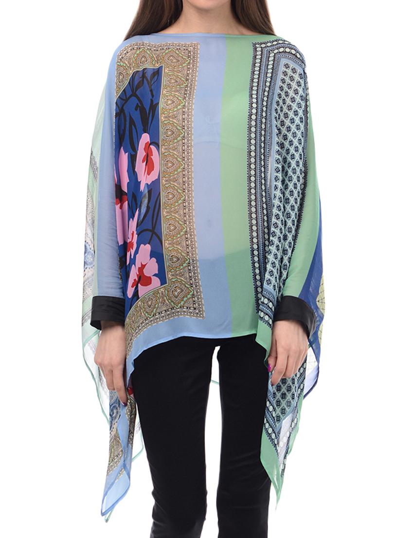 Купить Блуза, TWIN-SET, Многоцветный, 100%Вискоза, Весна-Лето
