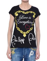 Женская футболка PHILIPP PLEIN 0066_black