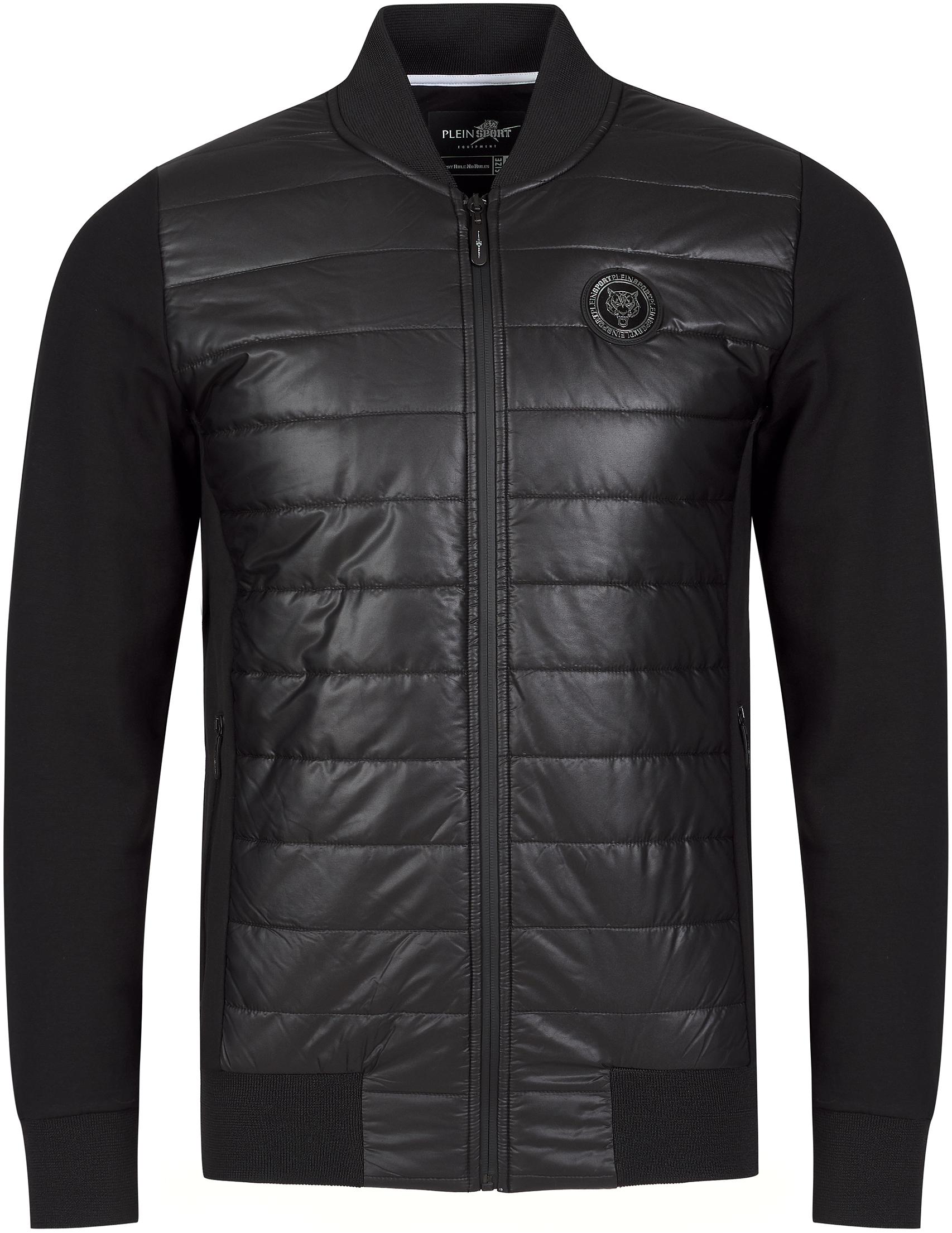 Купить Куртки, Куртка, PLEIN SPORT, Черный, 100%Полиэстер;95%Хлопок 5%Эластан;100%Хлопок, Осень-Зима