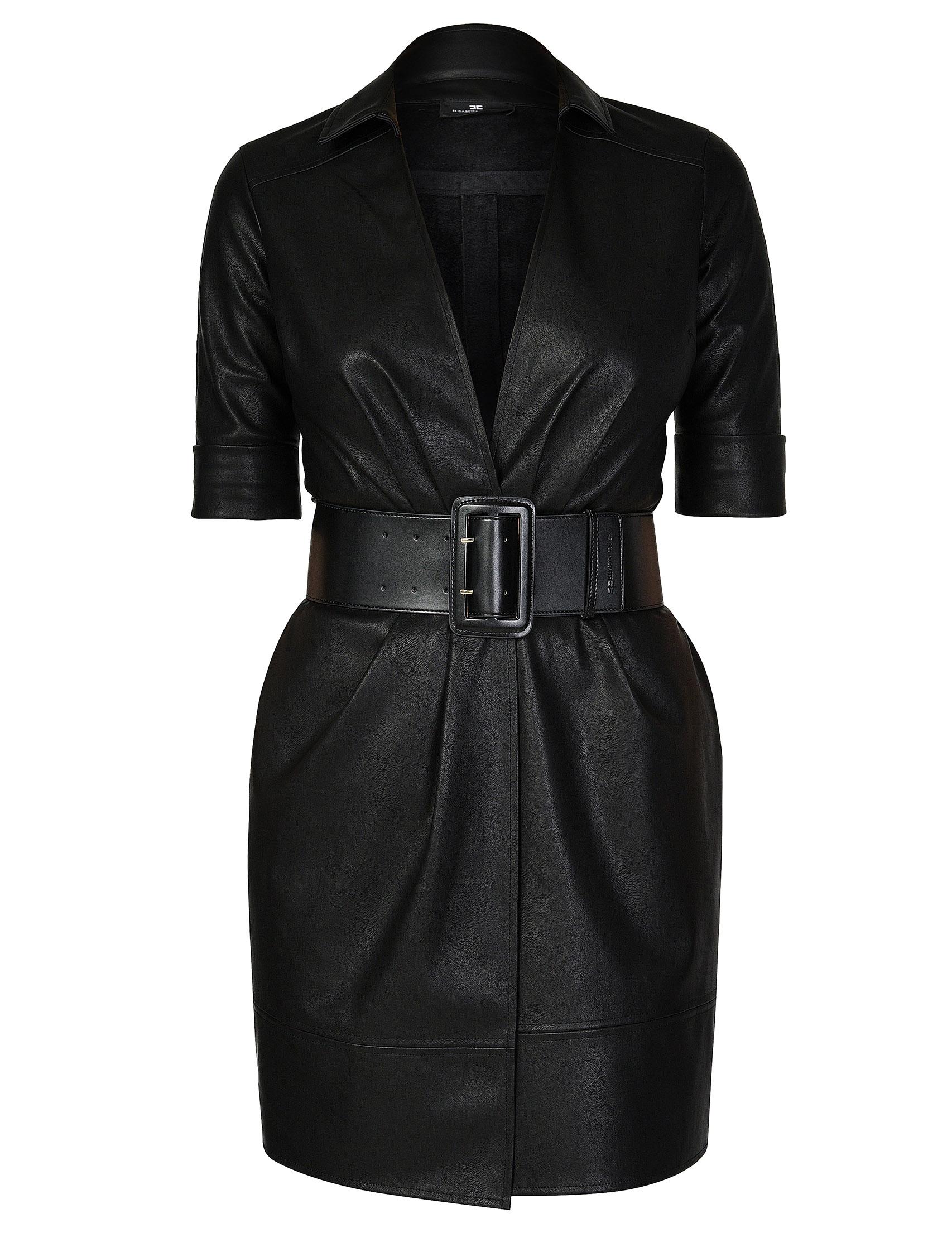Купить Платье, ELISABETTA FRANCHI, Черный, 100%Полиэстер, Осень-Зима