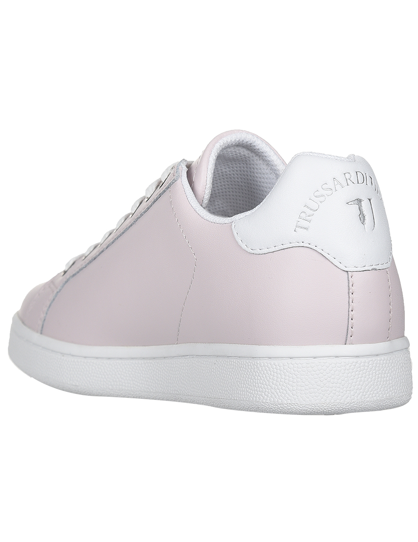 Кожаные розовые кроссовки TRUSSARDI JEANS (ITALY)