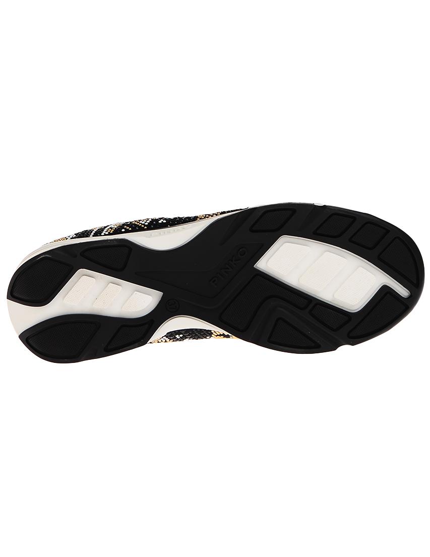 Текстильные чёрные кроссовки PINKO (ITALY)