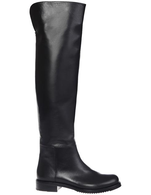 женские черные кожаные Ботфорты Loriblu 2107_black - фото-5