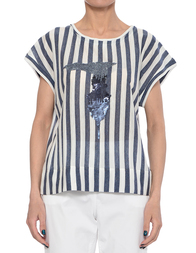 Женская футболка TRUSSARDI JEANS 56T14B-245