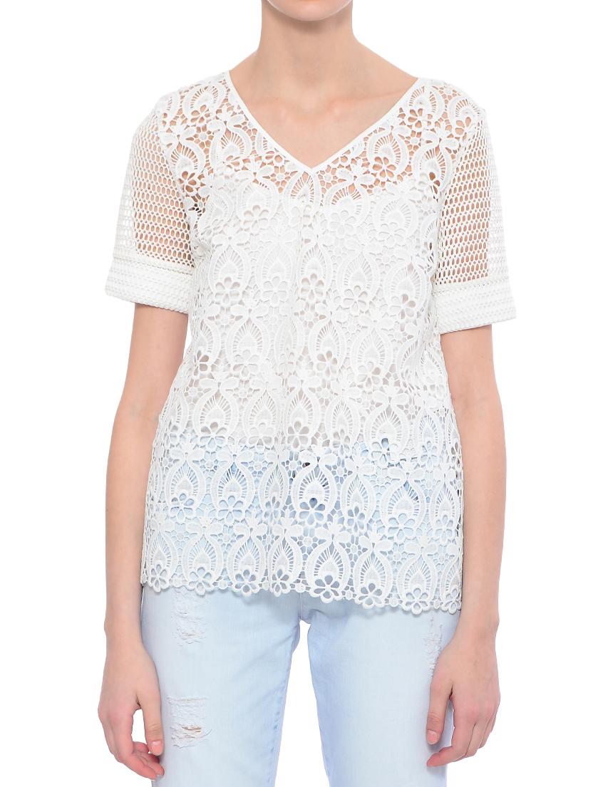 Купить Блуза, TWIN-SET, Белый, 100%Полиэстер, Весна-Лето