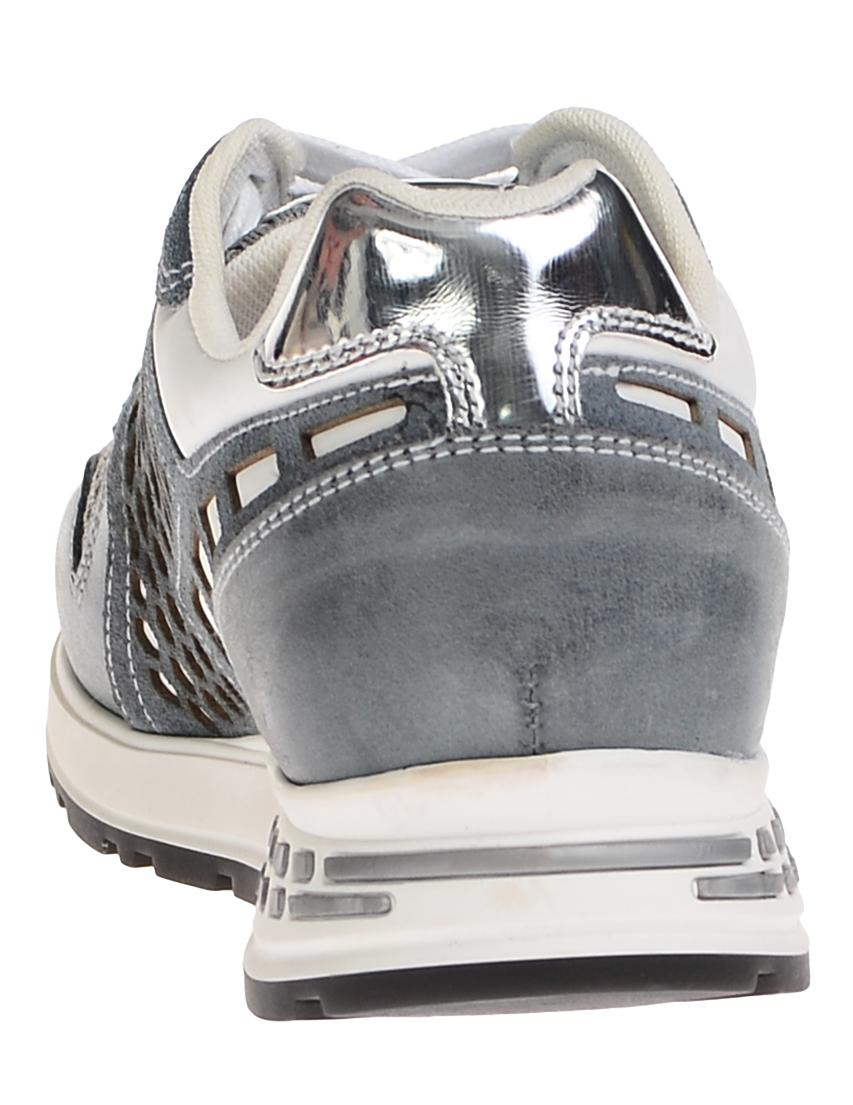 Кожаные серые кроссовки NERO GIARDINI (ITALY)