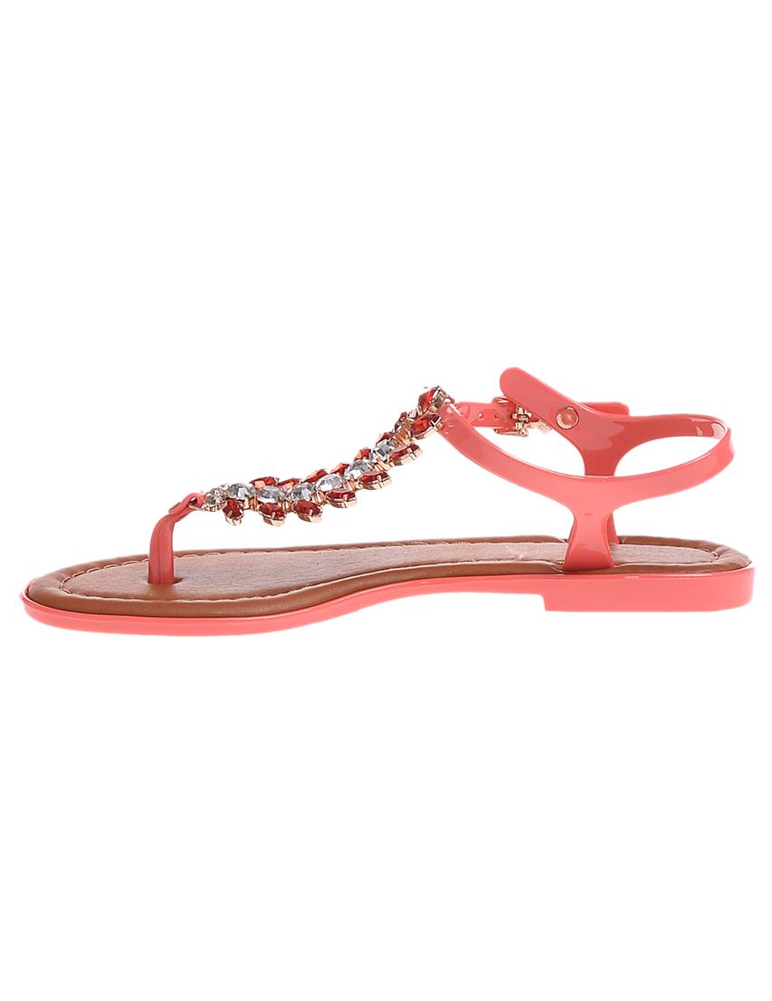 Фото 5 - женские сандали  кораллового цвета