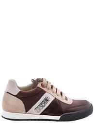 MOSCHINO Коричневые кроссовки для мальчиков