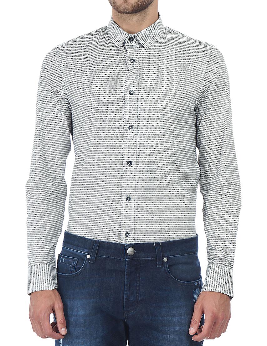 Купить Рубашка, BIKKEMBERGS, Черный, Белый, 97%Хлопок 3%Эластан, Осень-Зима