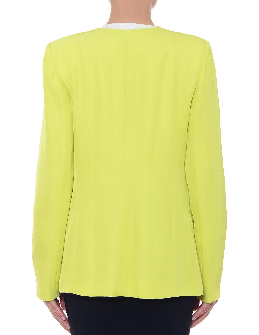 Фото 3 - женский пиджак  зеленого цвета