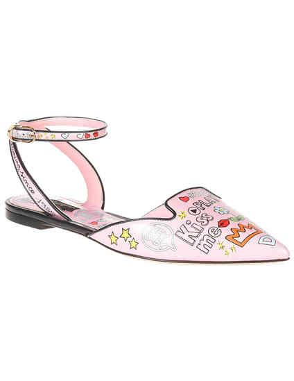 женские розовые Босоножки Dolce & Gabbana 0251-946-52_pink - фото-2