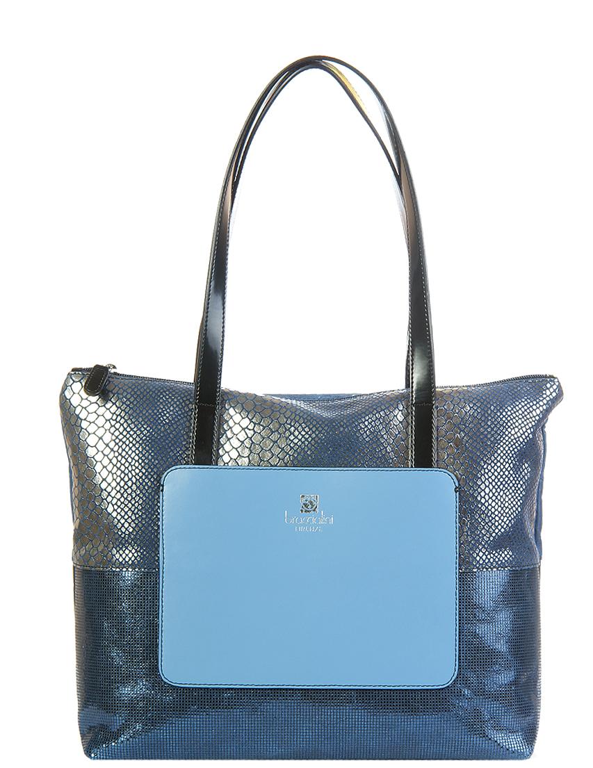 Купить Женские сумки, Сумка, BRACCIALINI, Синий, 100%Кожа, Осень-Зима