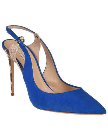 женские синие Босоножки Casadei CAS1151_blue - фото-2