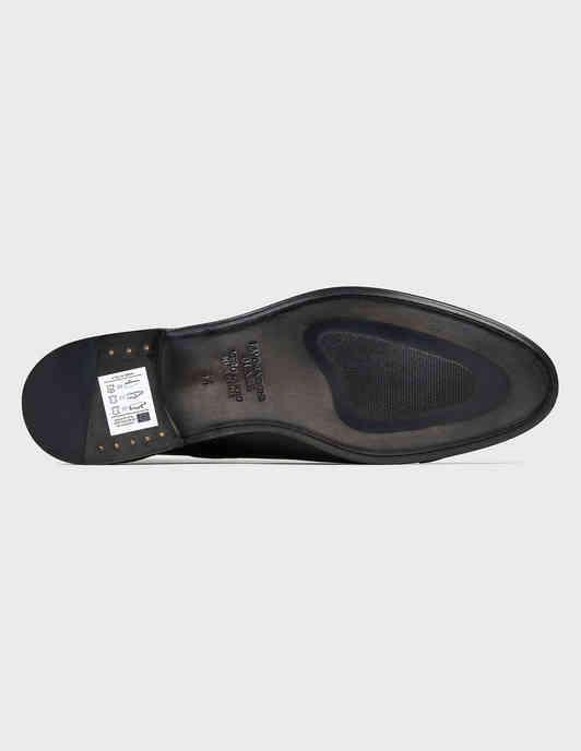 мужские черные кожаные Лоферы Giulio Moretti 7558ОЛ-black - фото-5