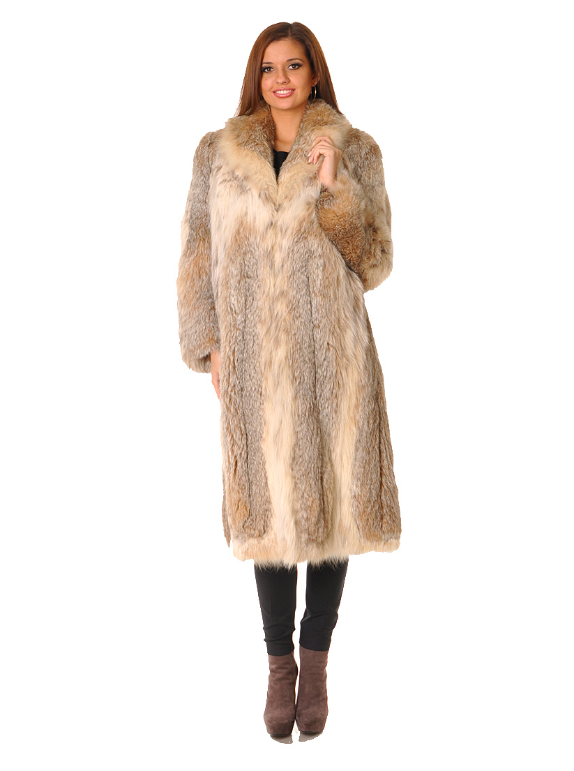 Купить Шуба, MARCO GIANOTTI, Бежевый, Мех канадской рыси, Осень-Зима