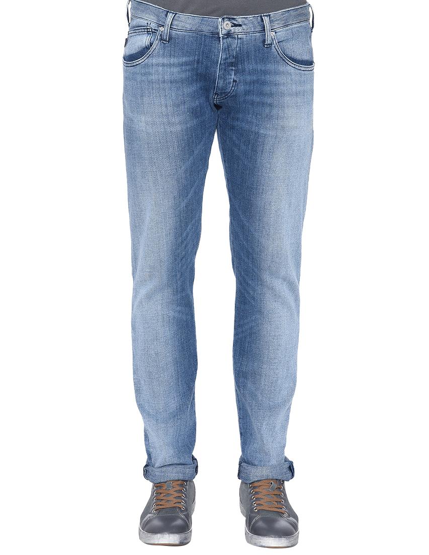 Фото - мужские джинсы  голубого цвета