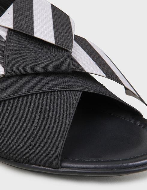 женские черные текстильные Босоножки Pertini 201W16903D1 - фото-5