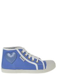 Детские кеды для девочек MOSCHINO 25315_blue