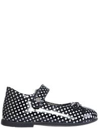 Детские туфли для девочек Naturino 4524-vernice-nero-argenro_black