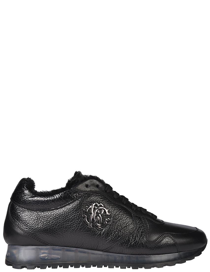 Мужские кроссовки Roberto Cavalli 52711_black