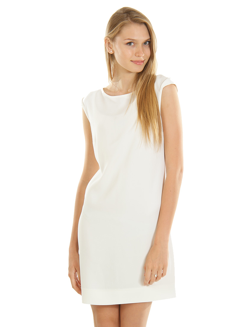 Купить Платье, PATRIZIA PEPE, Белый, 57%Акрил 43%Вискоза, Весна-Лето