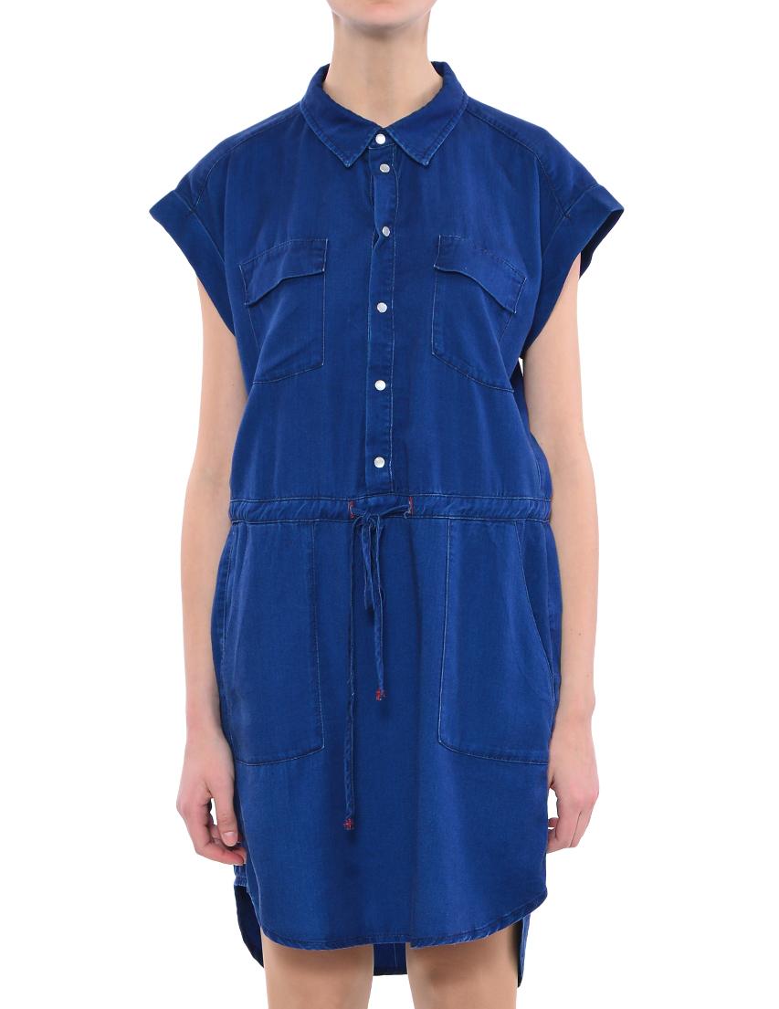 Купить Платье, TWIN-SET, Синий, 100%Лиоцел, Весна-Лето