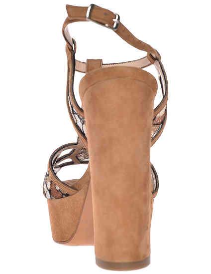 женские коричневые Босоножки Albano 9337-cappucino_brown - фото-2