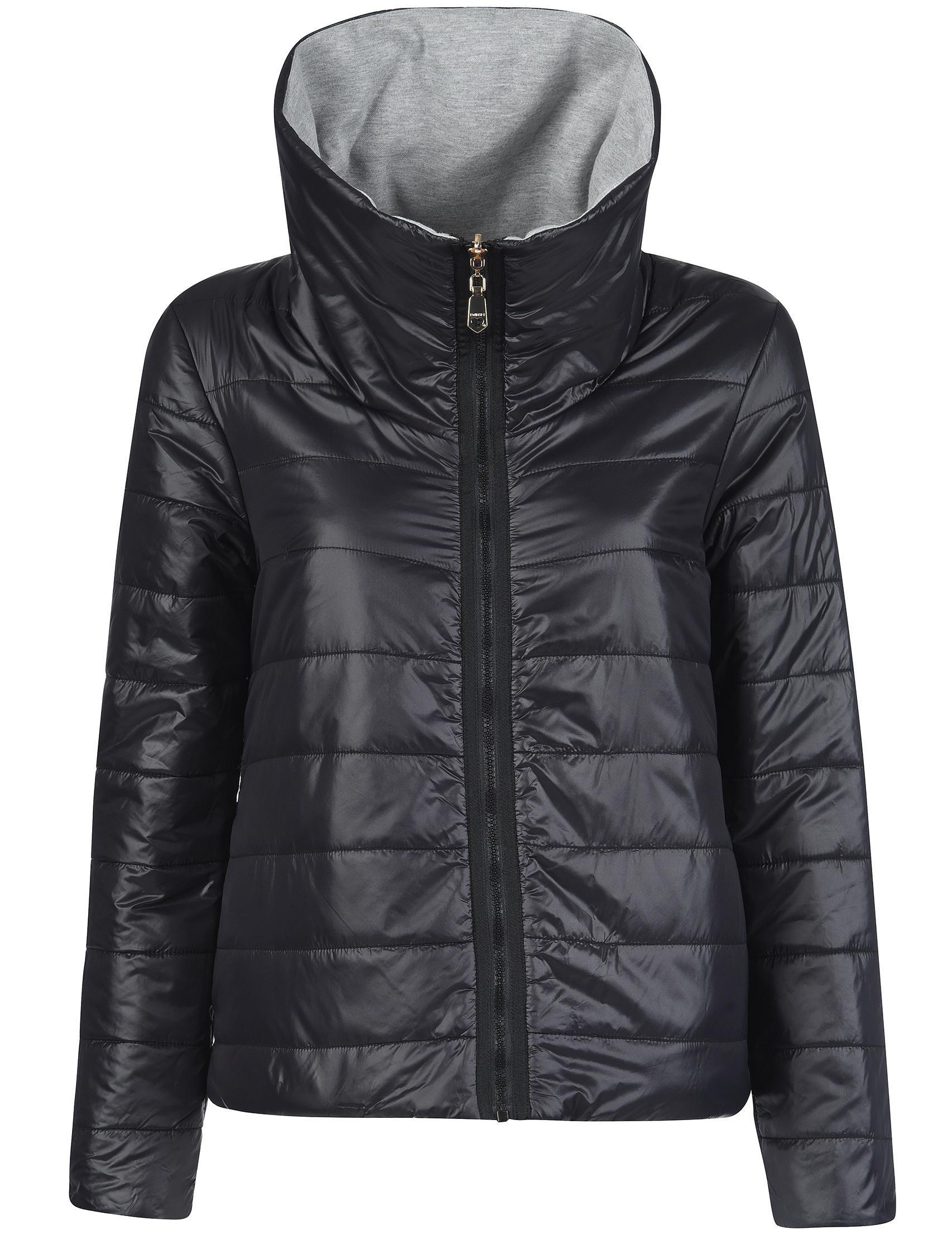 Купить Куртка, TWIN-SET, Черный, Серый, 100%Полиамид;65%Хлопок 35%Полиэстер;100%Полиэстер, Осень-Зима