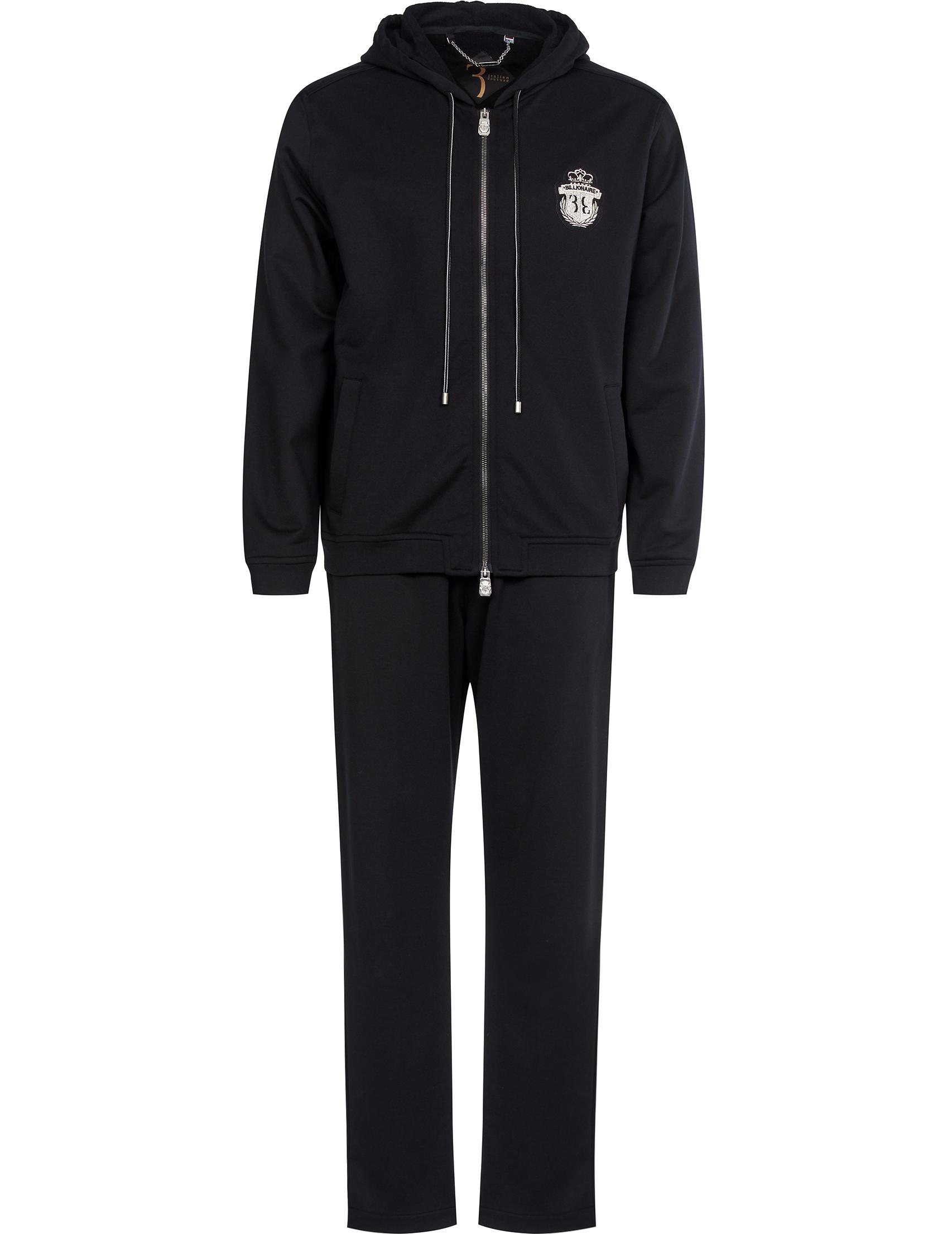 Купить Спортивные костюмы, Спортивный костюм, BILLIONAIRE, Черный, 100%Хлопок, Весна-Лето