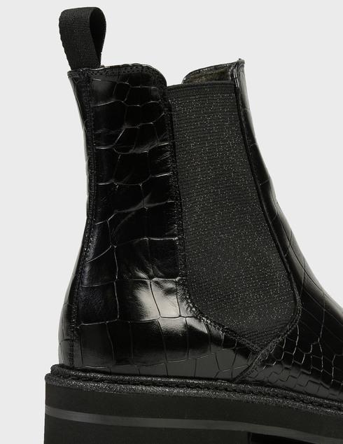 женские черные кожаные Ботинки Pertini 202W30359D1 - фото-5