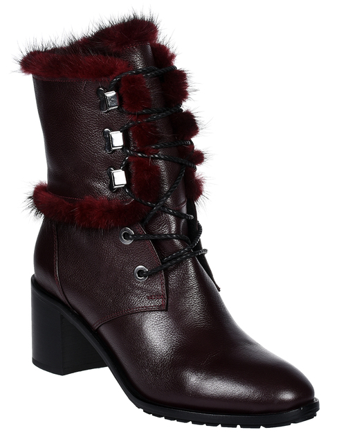 женские бордовые Ботинки Gianmarco Lorenzi GML013038-488 - фото-2
