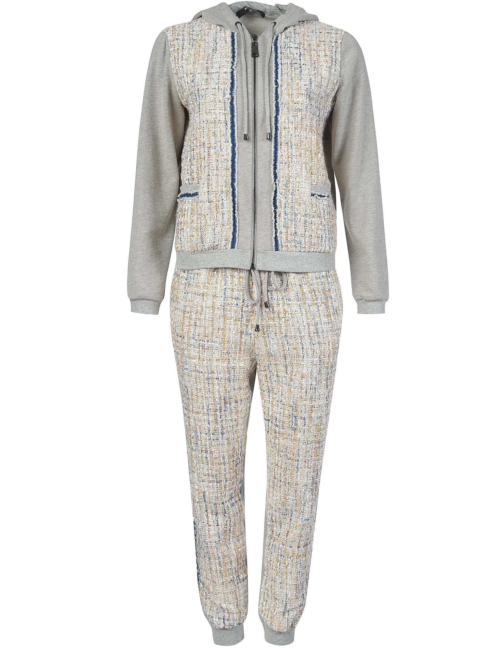 Купить Спортивный костюм, TWIN-SET, Серый, 72%Полиэстер 11%Хлопок 10%Вискоза 4%Акрил 3%Полиамид;100%Хлопок, Осень-Зима