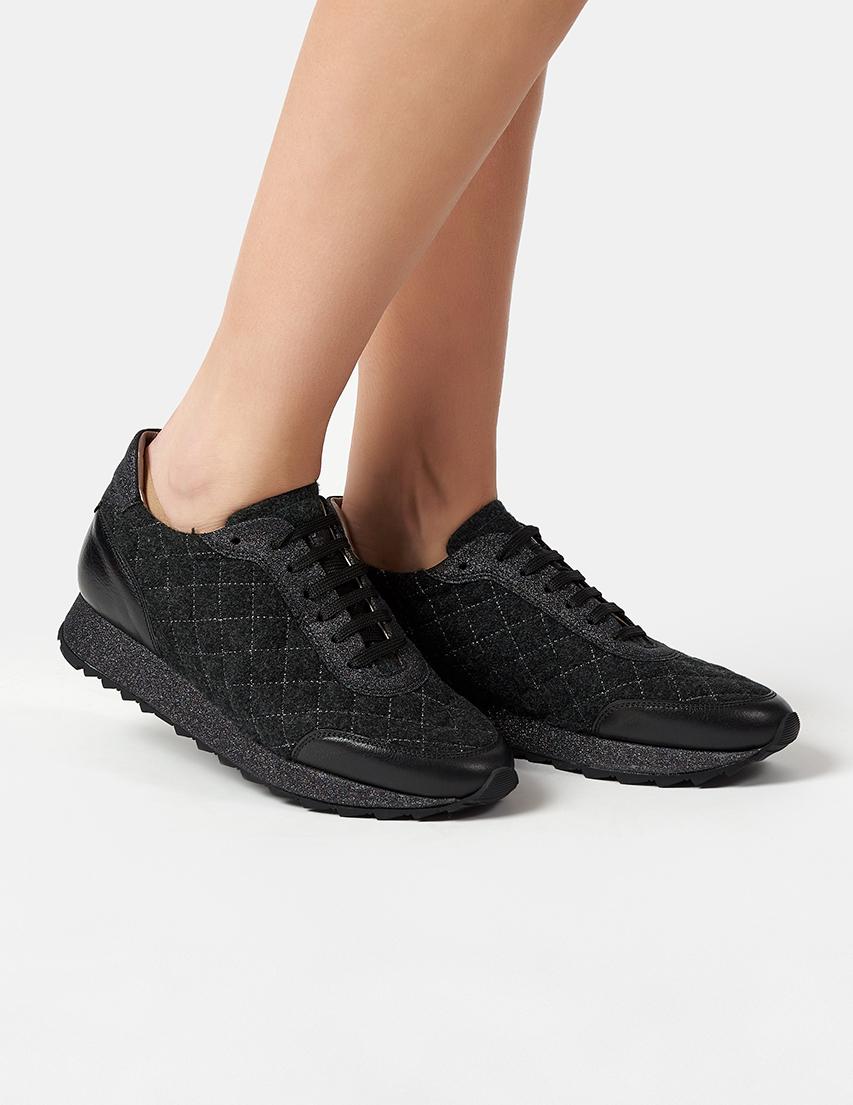 Текстильные чёрные кроссовки PERTINI (SPAIN)