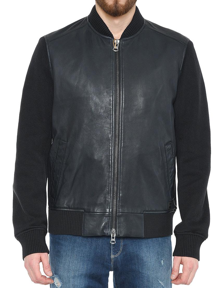 Купить Куртка, HUGO BOSS, Черный, 100%Кожа;95%Полиэстер 5%Эластан;60%Полиэстер 40%Хлопок, Весна-Лето