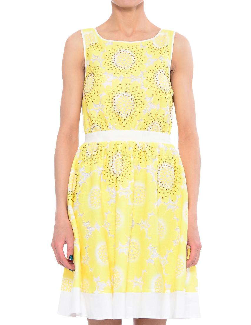 Купить Платье, TWIN-SET, Розовый, 100%Полиэстер; 100%Полиамид, Весна-Лето