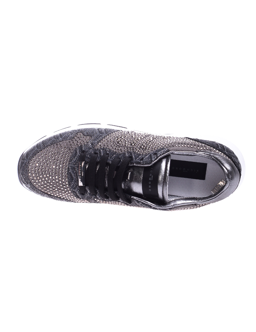 Замшевые серебряные кроссовки JOHN RICHMOND (ITALY)