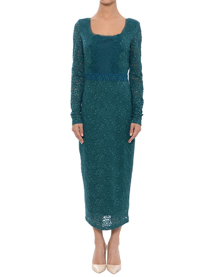 Купить Платье, TWIN-SET, Зеленый, 51%Хлопок 46%Полиамид 2%Вискоза 1%Эластан, Весна-Лето