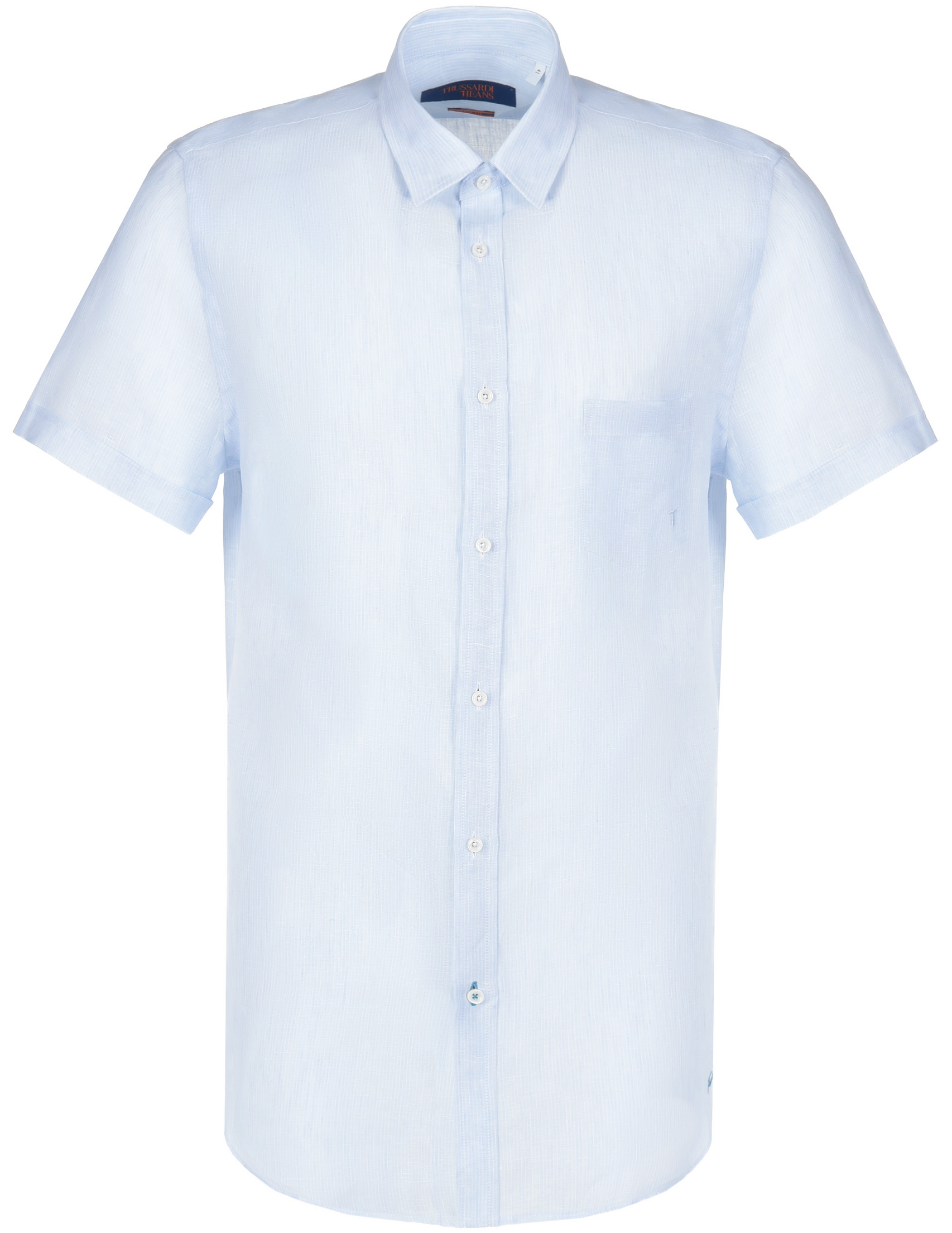 Купить Рубашки, Рубашка, TRUSSARDI JEANS, Голубой, 100%Лён, Весна-Лето