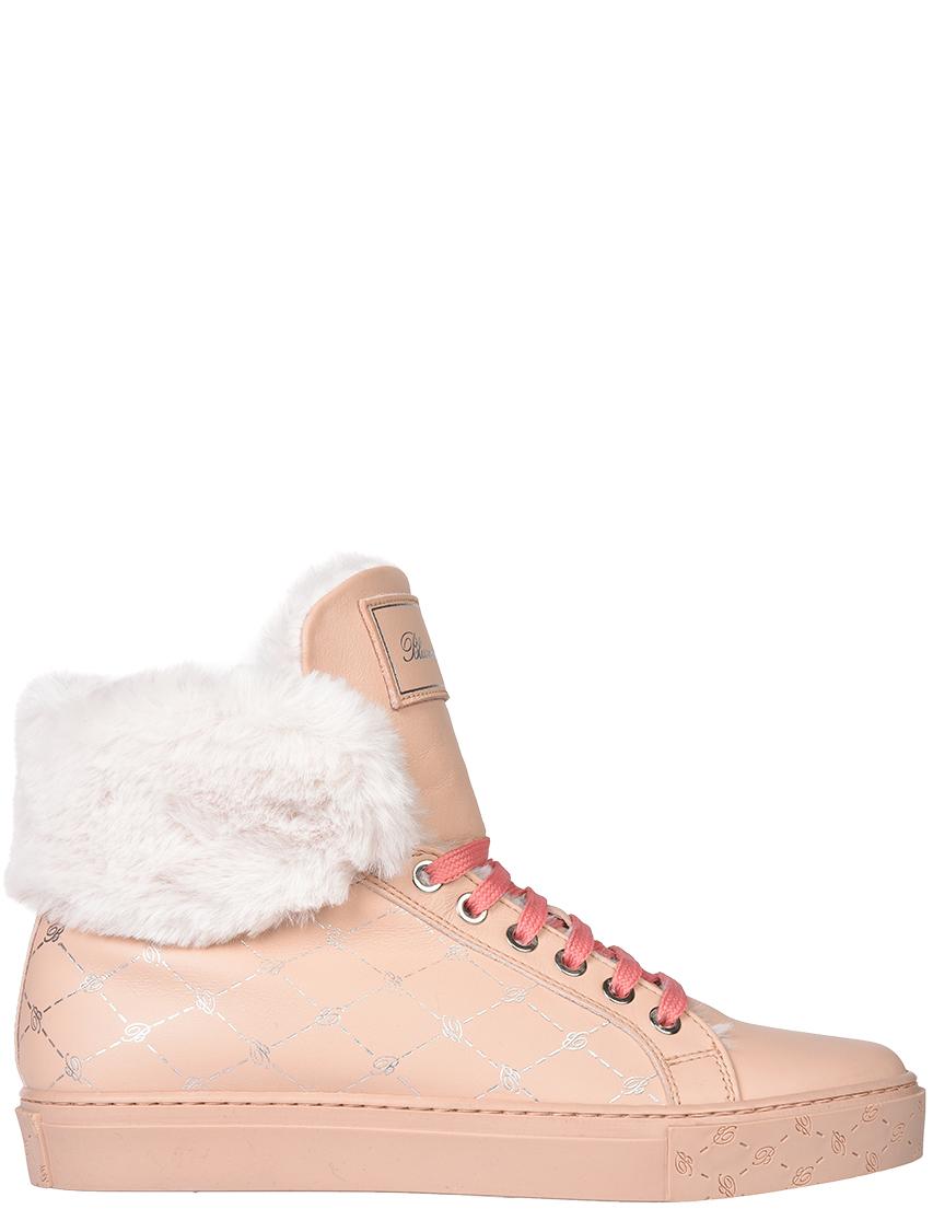 Женские кеды Blumarine 5376-roza-logo_pink