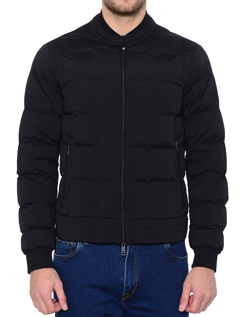 Купить Куртка, ARMANI JEANS, Черный, 88%Полиамид 12%Эластан, Осень-Зима