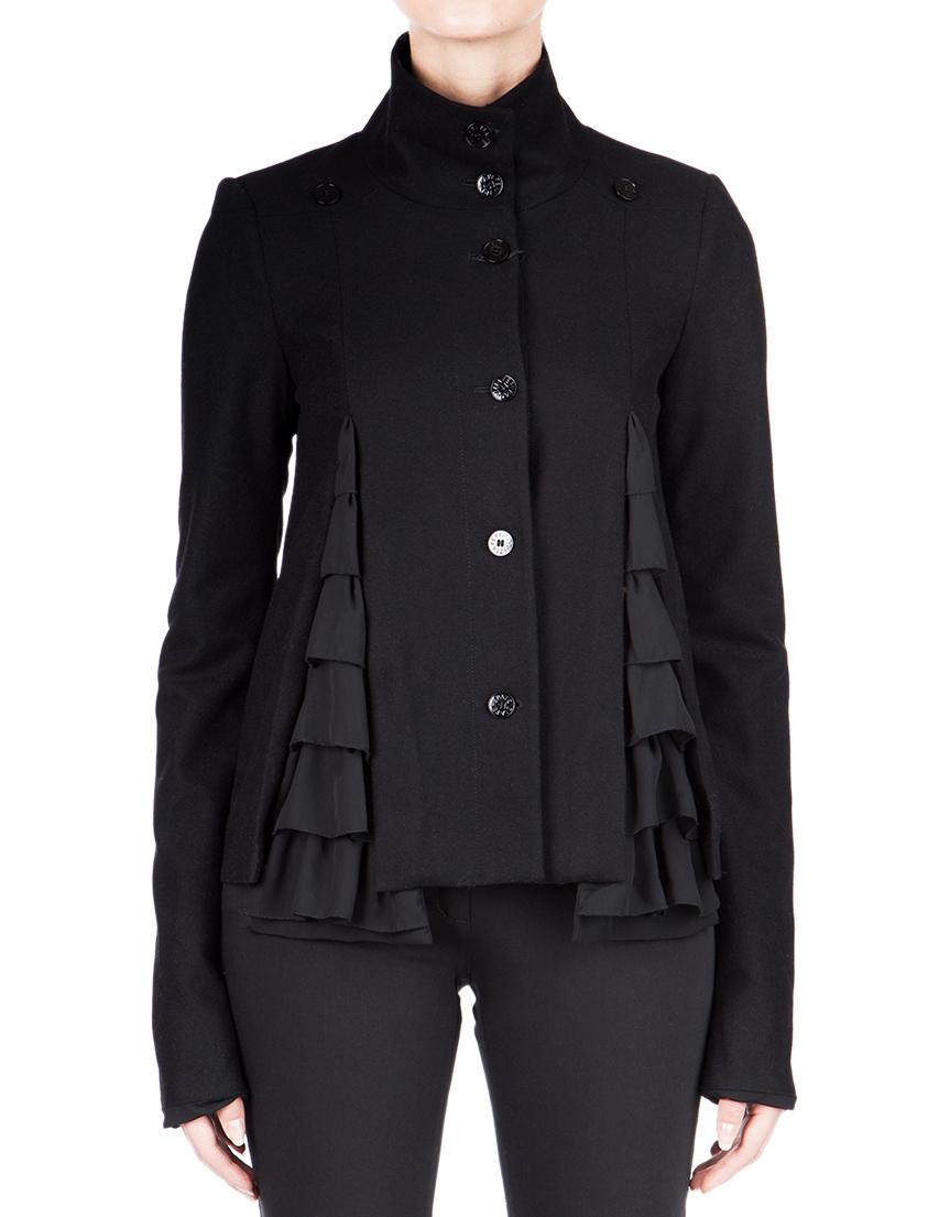 Купить Пальто, PATRIZIA PEPE, Черный, 88%Шерсть 10%Кашемир 2%Эластан, Осень-Зима