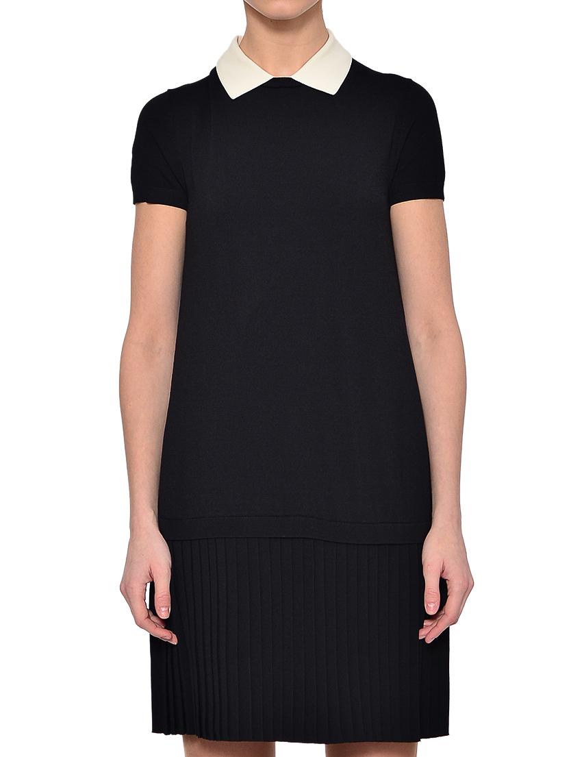 Купить Платье, RED VALENTINO, Черный, 75%Вискоза 25%Полиамид, Весна-Лето