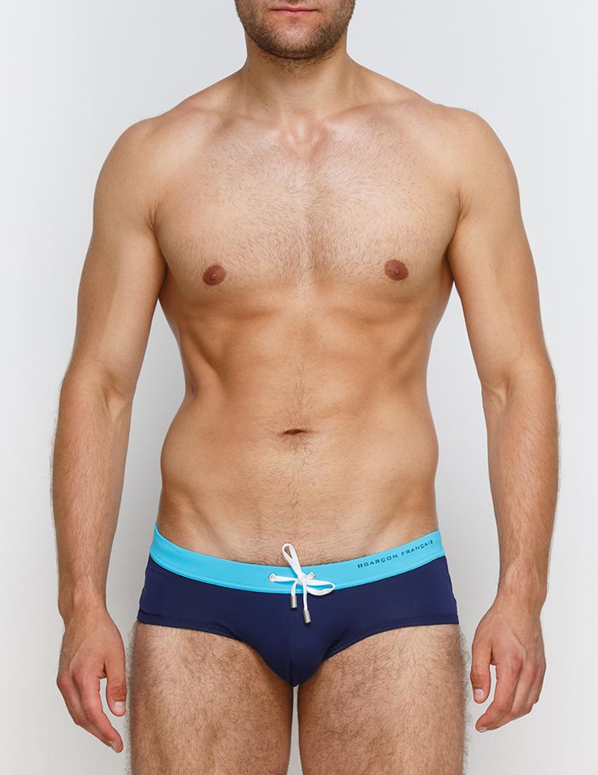 Мужские плавки пляжные GARCON FRANCAIS Slip-de-Bain17-Marine-Turquoise_blue