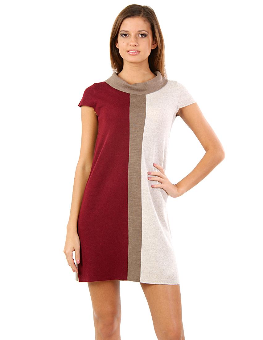 Купить Платье, TRUSSARDI JEANS, Бежевый, 50%Акрил 50%Шерсть, Осень-Зима