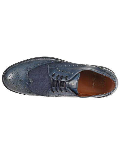 синие мужские Броги Franceschetti 4033016-navy 5490 грн