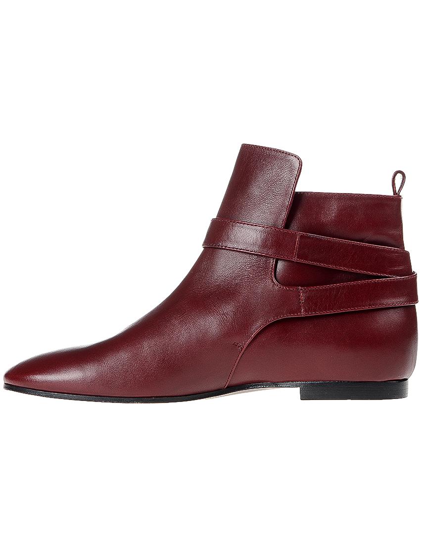 Фото 3 - женские ботинки и полуботинки  бордового цвета