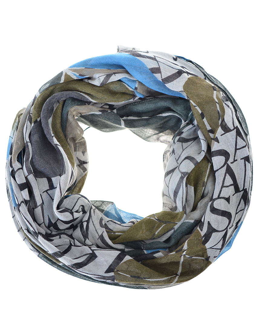Женский шарф ARMANI JEANS 924014-grey-mix-logo