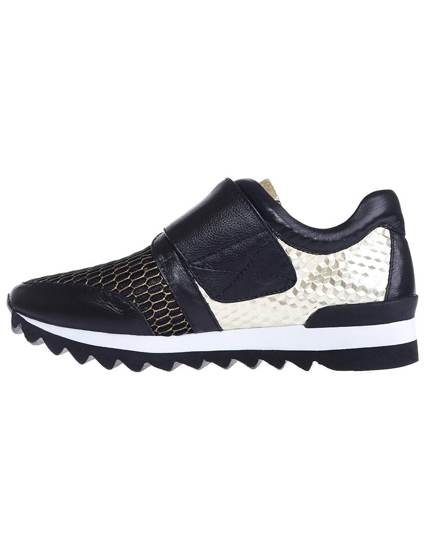 Текстильные чёрные кроссовки LOGAN (ITALY)